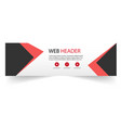 web header modern black red arrow image vector image
