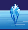 with beautiful white iceberg vector image