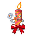 with megaphone character christmas decoration with vector image vector image