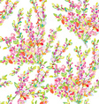 Spring or summer seamless floral background vector image