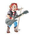 singer guitarist vector image