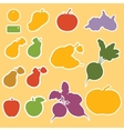 Templates for labels vegetables and fruits vector image