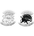 3heads elephant in thai traditional tattoo thai t vector image vector image