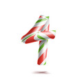 4 number four 3d number sign figure 4 in vector image vector image