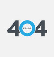 404 error page not found symbol computer problem vector image
