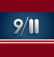 911 patriot day usa memorial background vector image vector image