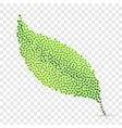 Abstract creative concept icon of leaf for vector image vector image