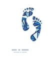 abstract ice chrystals footprints silhouettes vector image vector image