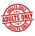adults only round red grunge stamp vector image vector image