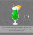 alcoholic mint cocktail card template vector image vector image