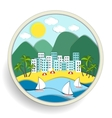 Badge depicting holidays at the sea vector image vector image