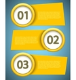 banners element design vector image