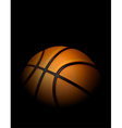 Basketball on Dark Shadowed Background vector image vector image