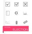 black election icon set vector image vector image