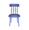 blue chair in retro design vector image vector image