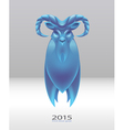 blue goat vector image