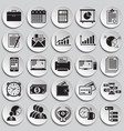 business icons set on plates background for vector image