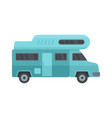 camping truck icon flat style vector image vector image