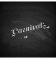 carnival on the blackboard texture vector image