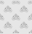 carriage seamless pattern vector image