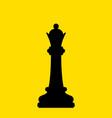 chess black queen vector image vector image