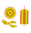 Chinese Gold Made of Joss Paper vector image vector image
