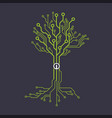 circuit board tree symbol vector image