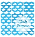 Clouds seamless patterns vector image