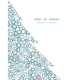 colorful bubbles Christmas tree silhouette pattern vector image