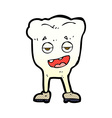 comic cartoon tooth looking smug vector image