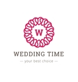 elegant simple monogram logo Wedding vector image vector image
