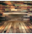Empty interior with wood shelf EPS 10 vector image vector image