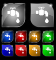 faucet icon sign Set of ten colorful buttons with vector image