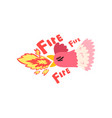 fire rooster hot spicy chicken creative logo vector image vector image