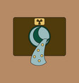 Flat icon design collection nuclear waste