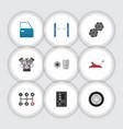 flat icon workshop set of turnscrew auto jack vector image vector image