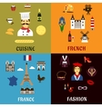 France travel journey and landscape icons vector image vector image