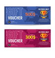 Gift Voucher Coupon Template vector image vector image