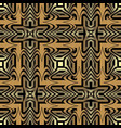 gold 3d geometric waves greek seamless pattern vector image vector image