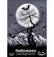 Halloween background with foll Moon and lifeless vector image vector image