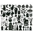 halloween elements cartoon vector image