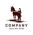 horse and woman logos template vector image