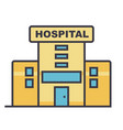 hospital flat line concept vector image
