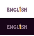 lettering english vector image vector image