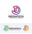 Media technology logo design