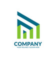modern building and construction logo vector image vector image
