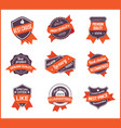 orange label marketing set 1 vector image vector image