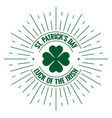 patricks day logo irish stamp on white background vector image