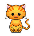 pixel cute cat detailed isolated vector image vector image