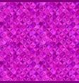 purple geometric striped shape mosaic tile vector image